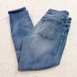 Gap skinny roll up jeans light indigo 27 4
